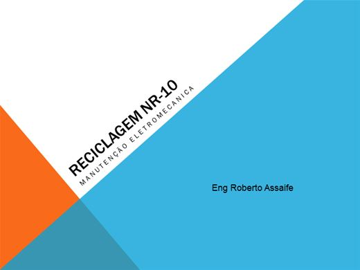 Curso Online de RECICLAGEM NR10 PORTARIA 958/2004