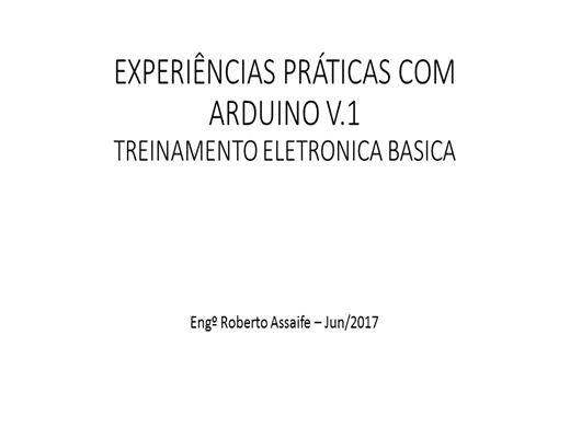 Curso Online de Eletronica Básica - Experimentos com ARDUINO
