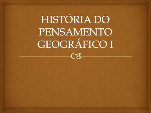 Curso Online de HISTÓRIA DO PENSAMENTO GEOGRÁFICO 1