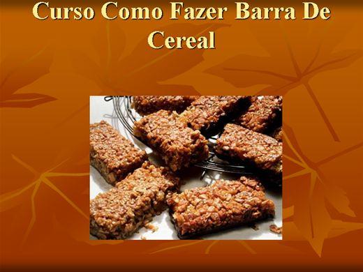 Curso Online de Como Fazer Barra De Cereal