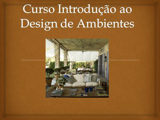 Curso Online de Curso Introdução ao Design de ambientes