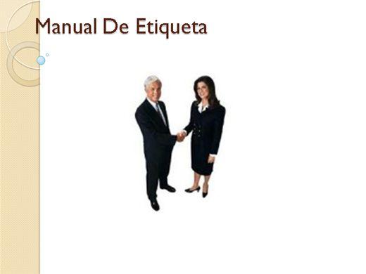 Curso Online de Manual De Etiqueta