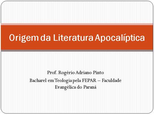 Curso Online de Origem da Literatura Apocalíptica