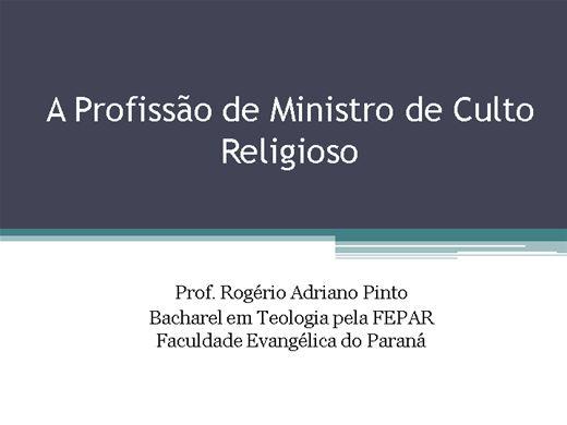 Curso Online de Profissão de Ministro de Culto Religioso