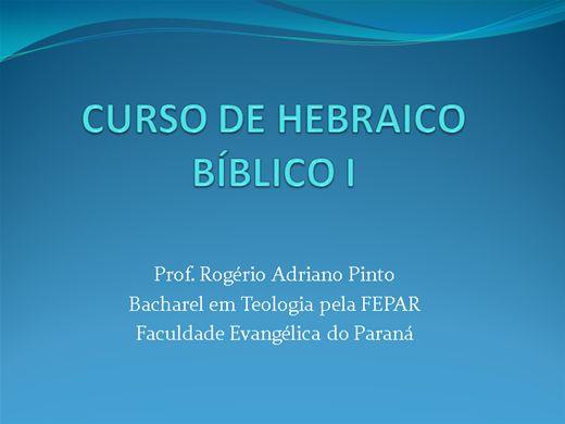 Curso Online de Hebraico Bíblico