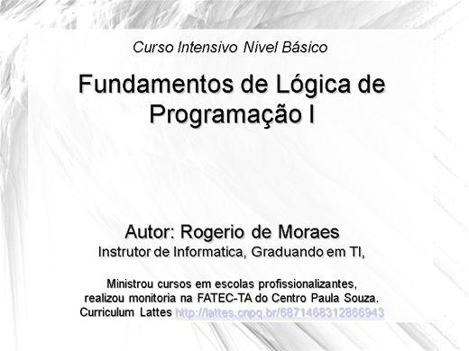 Curso Online de Fundamentos de Logica de Programação I