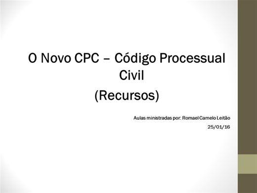 Curso Online de O novo CPC - Código Processual Civil  (Recursos)