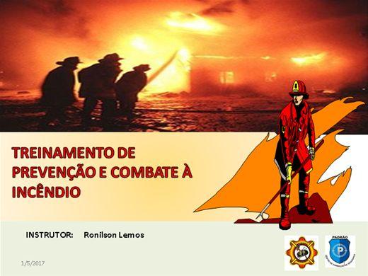 Curso Online de CURSO DE TREINAMENTO PARA COMBATE Á INCÊNDIO