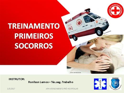 Curso Online de CURSO DE TREINAMENTO DE PRIMEIROS SOCORROS