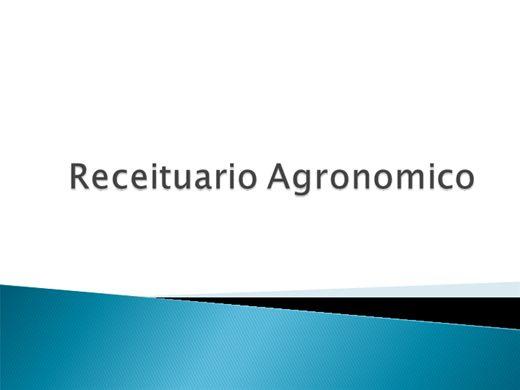 Curso Online de Receituario Agronômico - Agrotóxico,Defensivo AgrícolaouAgroquímico