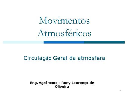 Curso Online de Movimentos Atmosféricos