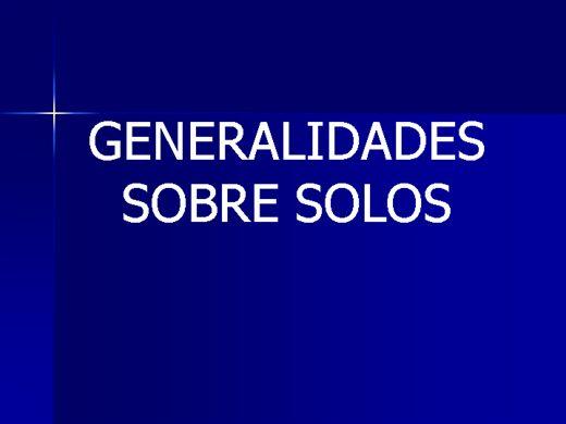 Curso Online de Fertilidade do solo - Generalidades do solo