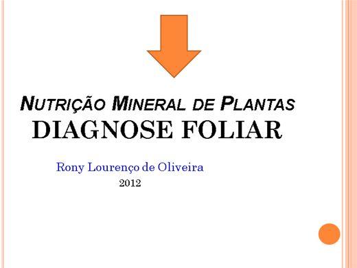 Curso Online de DIAGNOSE FOLIAR - Nutrição Mineral de Plantas