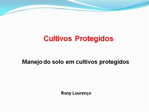 Curso Online de -> Cultivos Protegidos - Manejo do solo em cultivos protegidos
