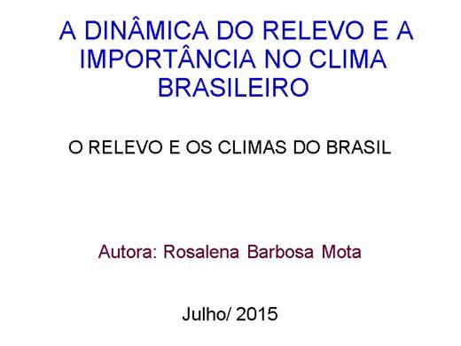 Curso Online de A DINÂMICA DO RELEVO E A IMPORTÂNCIA NO CLIMA BRASILEIRO