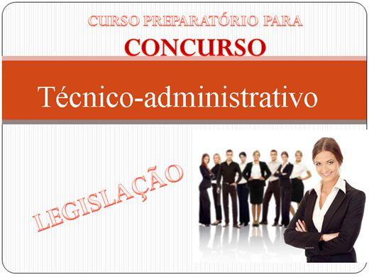 Curso Online de Preparatório para concurso - técnico-administrativo
