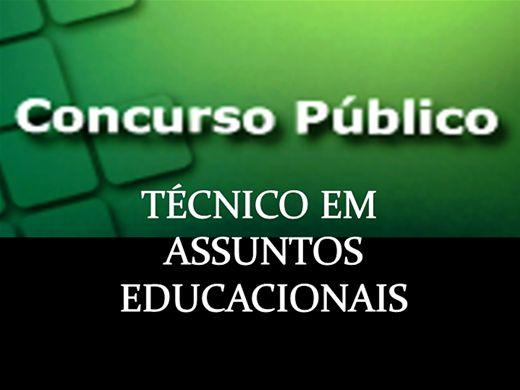 Curso Online de Concurso: Técnico em Assuntos Educacionais