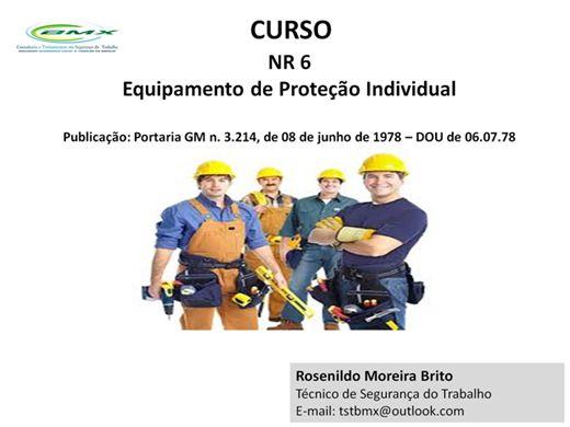 Curso Online de CURSO NR - 06, EQUIPAMENTO DE PROTEÇÃO INDIVIDUAL ... aa4a1277b9