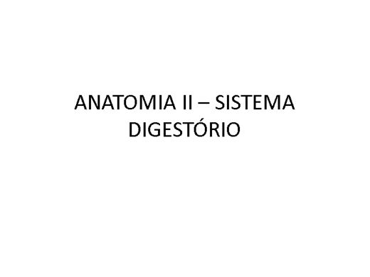 Curso Online de ANATOMIA SISTEMICA