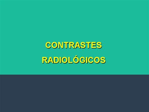 Curso Online de CONTRASTE RADIOLÓGICO