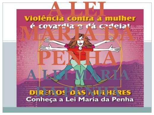 Curso Online de CURSO A LEI MARIA DA PENHA
