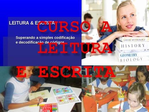 Curso Online de CURSO A LEITURA E ESCRITA.