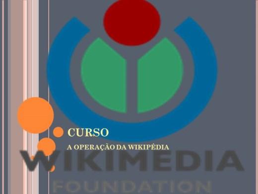 Curso Online de  CURSO A OPERAÇÃO DA WIKIPÉDIA