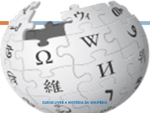 Curso Online de CURSO LIVRE A HISTÓRIA DA WIKIPÉDIA