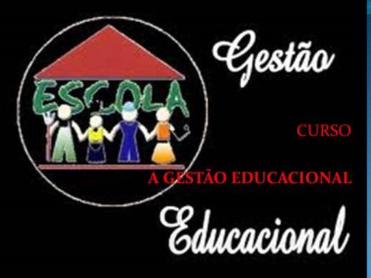 Curso Online de  CURSO  A GESTÃO EDUCACIONAL