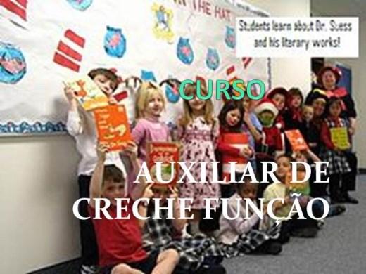 Curso Online de CURSO AUXILIAR DE CRECHE FUNÇÃO