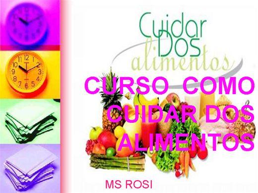 Curso Online de CURSO  COMO CUIDAR DOS ALIMENTOS