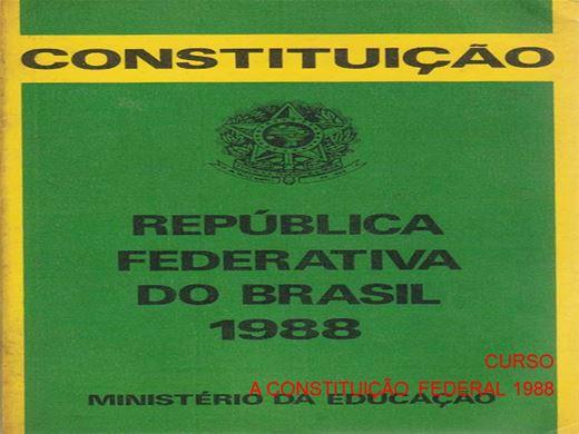 Curso Online de CURSO A CONSTITUIÇÃO FEDERAL 1988