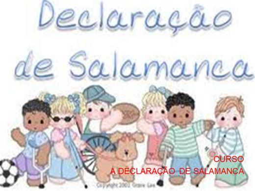 Curso Online de CURSO A DECLARAÇÃO DE SALAMANCA