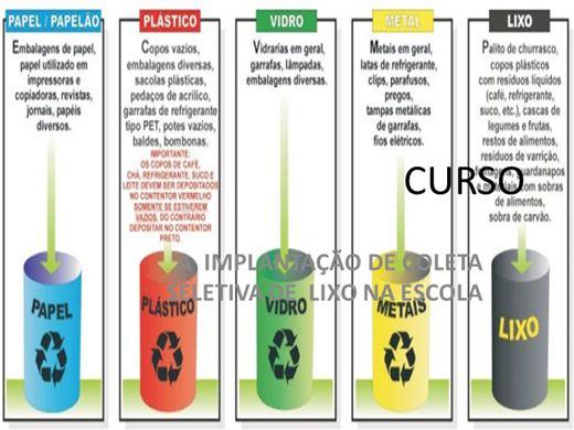 Curso Online de CURSO A IMPLANTAÇÃO DE COLETA SELETIVA DE LIXO NA ESCOLA