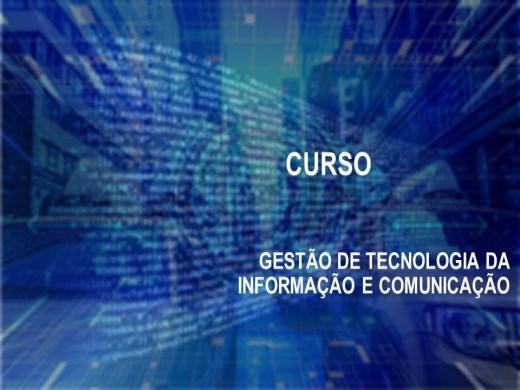 Curso Online de   GESTÃO DE TECNOLOGIA DA INFORMAÇÃO E COMUNICAÇÃO