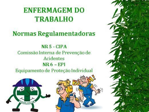 Curso Online de ENFERMAGEM DO TRABALHO -Normas Regulamentadoras CIPA NR-5 e EPI NR-6
