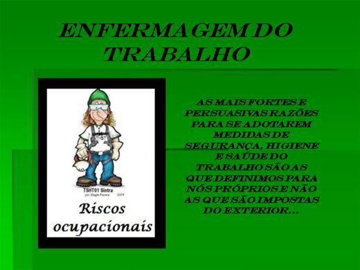 Curso Online de ENFERMAGEM DO TRABALHO - RISCOS OCUPACIONAIS