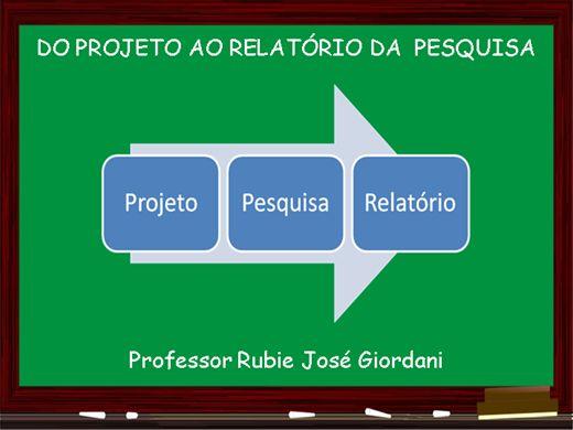 Curso Online de Como fazer projeto e relatório de pesquisa
