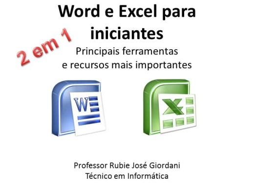 Curso Online de Word e Excel para iniciantes