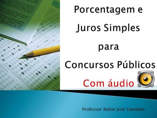Curso Online de Porcentagem e Juros simples para Concursos Públicos