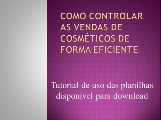Curso Online de Como Controlar as Vendas de Cosméticos de Forma Eficiente