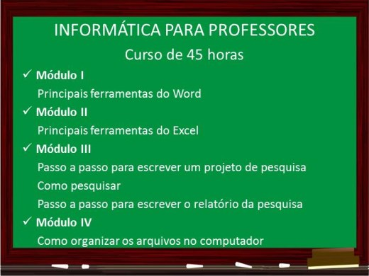 Curso Online de Informática para Professores