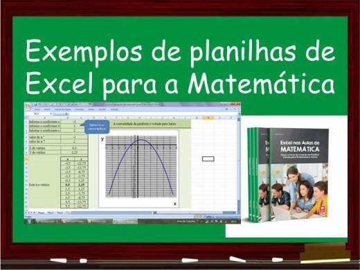 Curso Online de Exemplos de planilhas de Excel para a Matemática