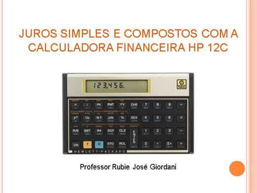 Curso Online de Juros simples e compostos na Calculadora Financeira HP 12C