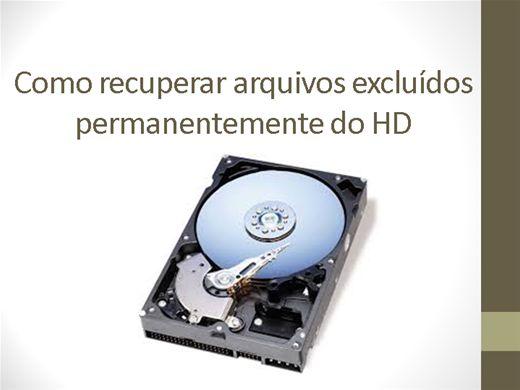 Curso Online de Como recuperar arquivos excluídos permanentemente do HD