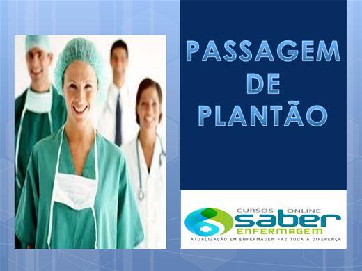 Curso Online de PASSAGEM DE PLANTÃO