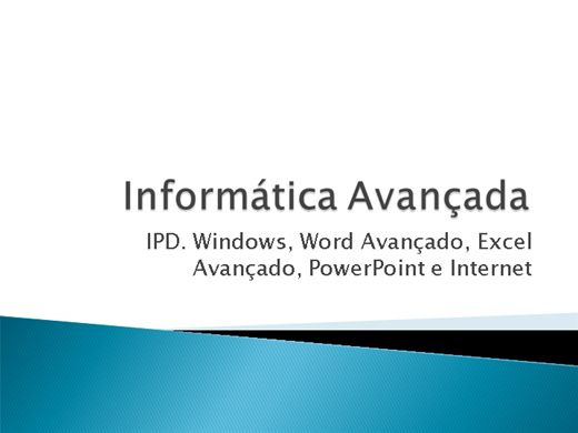 Curso Online de Completo de Informática Avançada