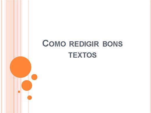 Curso Online de Como redigir bons textos