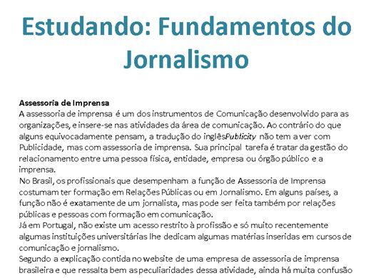 Curso Online de Fundamentos do Jornalismo