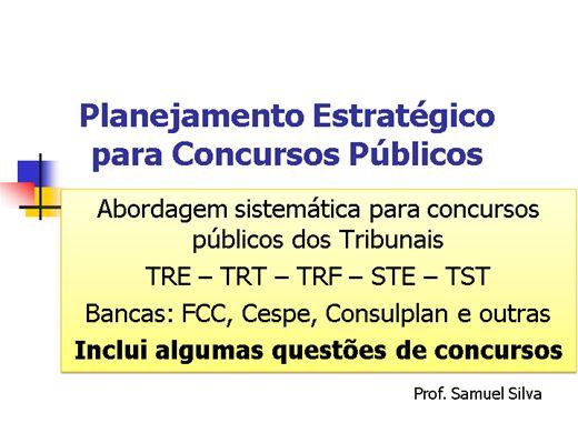 Curso Online de Planejamento Estratégico para Concursos Públicos